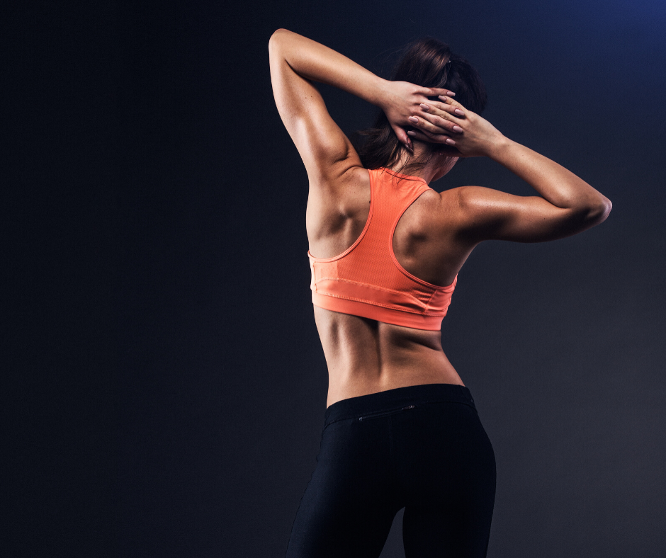 woman fit back pose