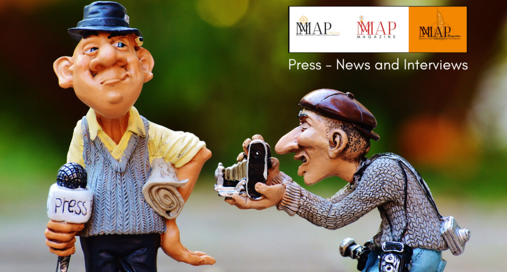 MMAP Press two old funny men news reporters