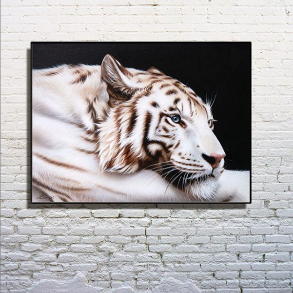 Sandi Baker White Tiger Artwork Luxury Art