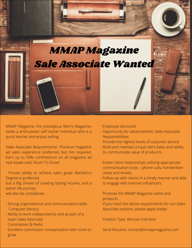 MMAP Magazine Career Opportunity