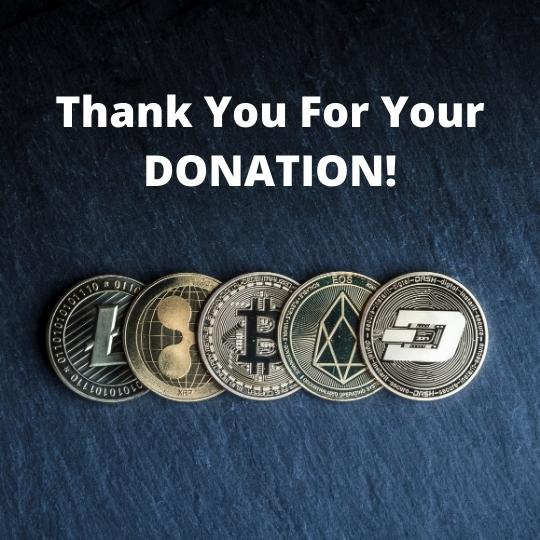Thank You For Your Crypto Donation