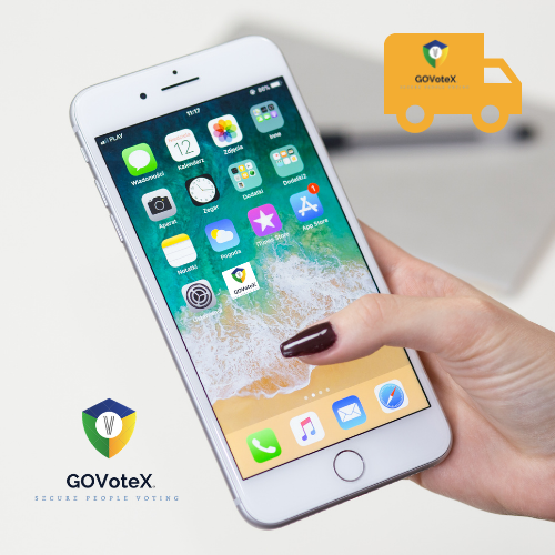 GOVoteX App on Cell Phone