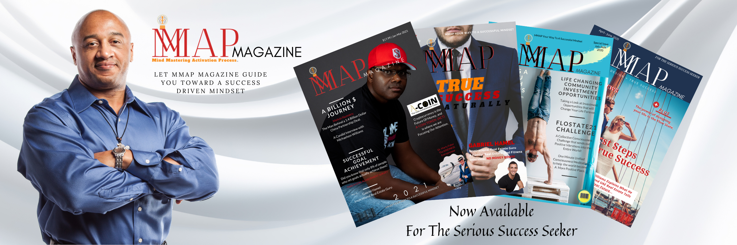 Michaelson Williams with 4 MMAP Magazine Covers